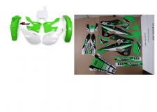 New KX 125 250 99 00 01 02 FLU PTS3 Graphics Sticker Plastic Kit Plastics